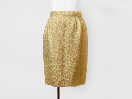 matt gold flower タイト mini skirt