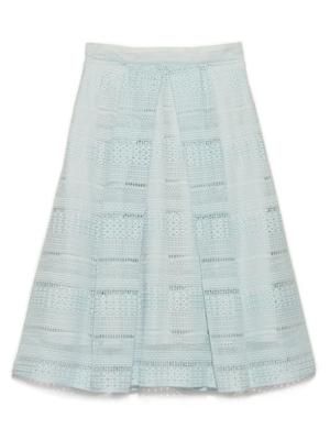 ボーダー刺繍スカート