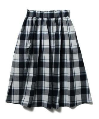 チェックギャザー スカート
