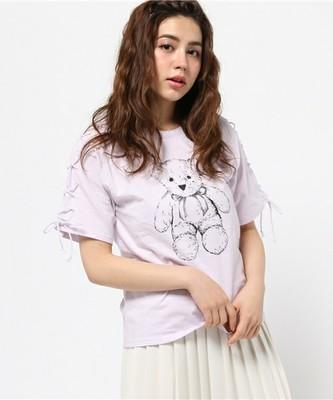 merry jenny レースアップくまTシャツ