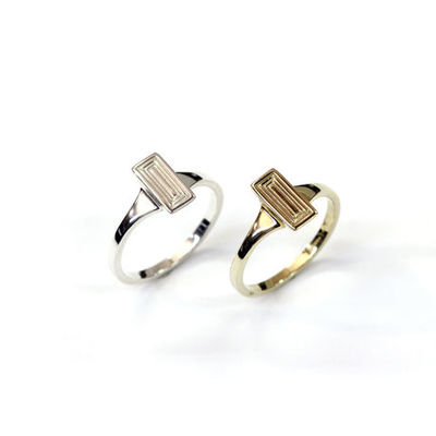 Carve Baguette Ring R03