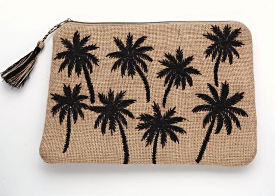 Tiipi カゴクラッチ Palm Tree