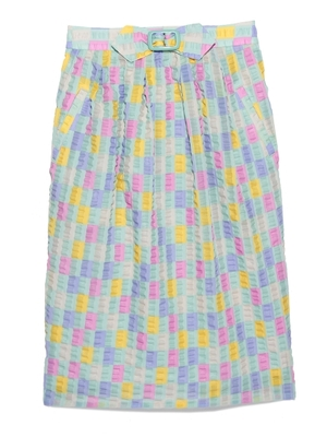 Lily Brown ブロックチェックタイトスカート