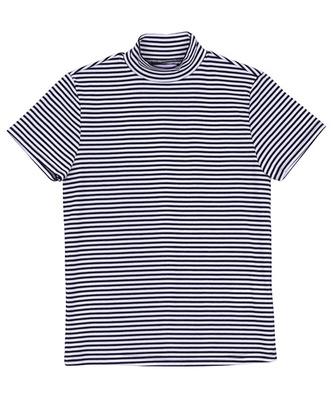 ボーダーハイネックTシャツ