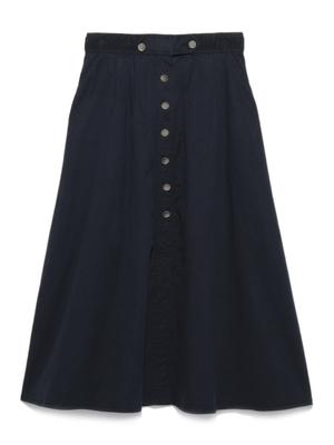 裾スリットフレアロングスカート