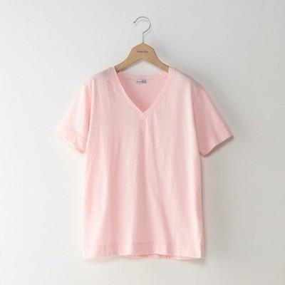 SLAB COTTON V NECK TEE/Tシャツ