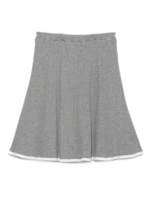 リブニットフレアースカート