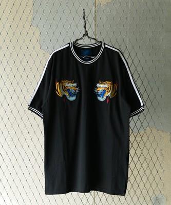 トラ刺繍スカジャンTシャツ