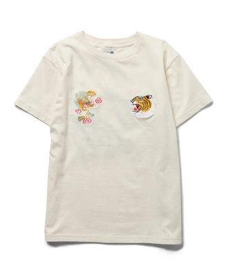 スカ刺繍 ショートスリーブ Tシャツ