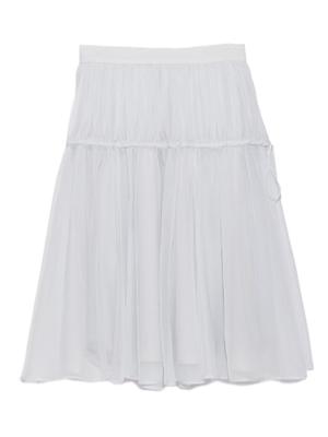 snidel(スナイデル)オーガンジーミドル丈スカート