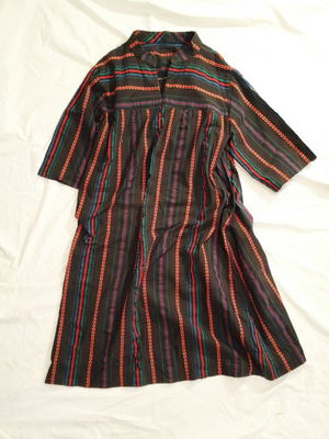 USED EMBROIDERY STRIPE DRESS