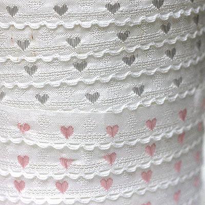 ハート刺繍 イタリア製リボン