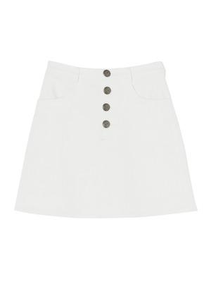 コンチョボタン台形スカート