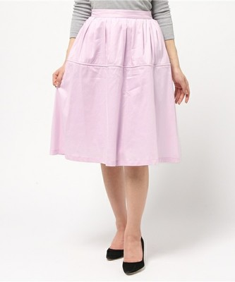 ギャザーミドル丈スカート