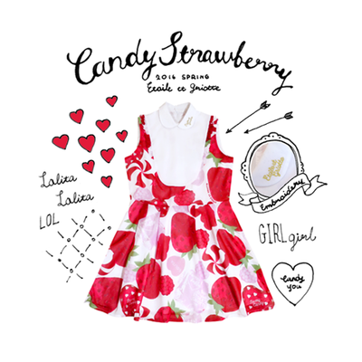 CANDY STRAWBERRY ワンピース