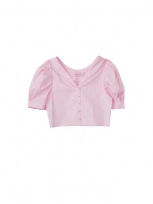 HONEY MI HONEY  gingham puffsleeve blouse