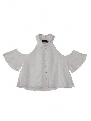 MINKPINK  NEW 『MINKPINK』Lace Clod Shoulder Shirt