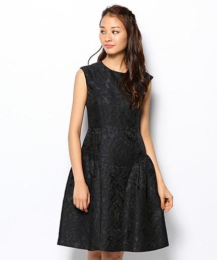 ボールドパターンジャカードドレス