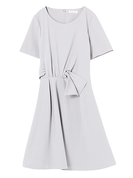 リボンファタール半袖ドレス
