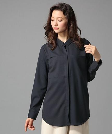【LADIES】シームポケットシャツ