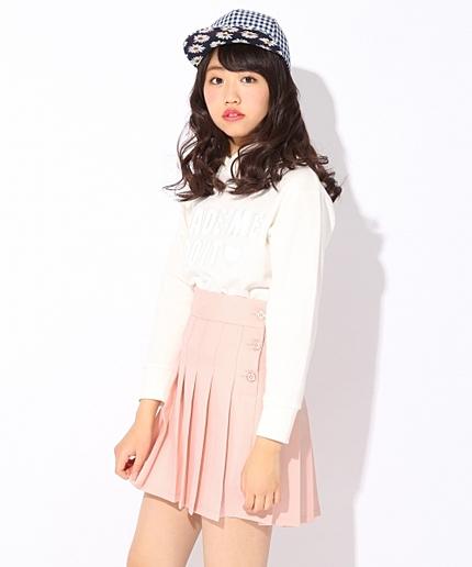 【ニコラ4月号掲載】★カラバリ豊富★カラープリーツスカート