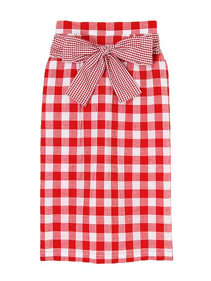 ギンガムいっぱいスカート