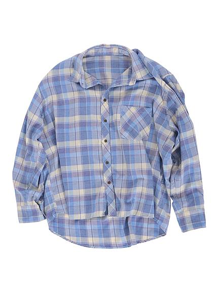 ルーズソフトチェックシャツ