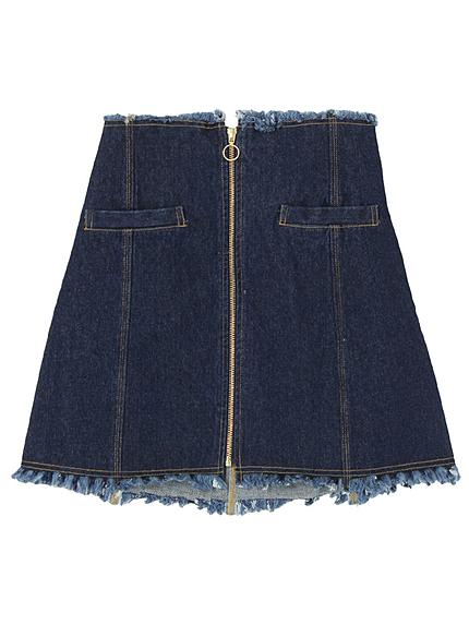 ZIP台形スカート