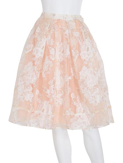 【WEB限定】 フラワーオーガンジースカート