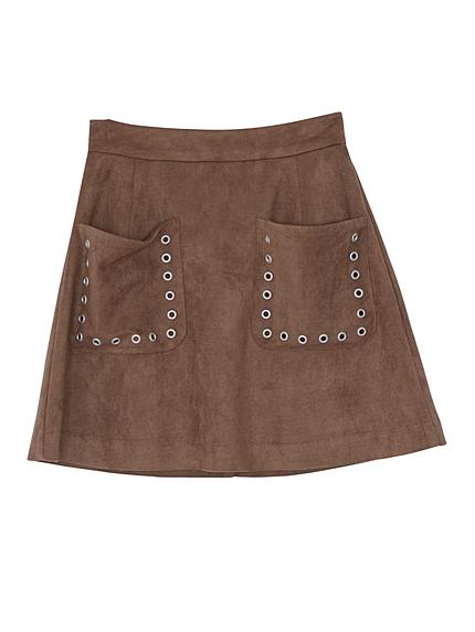 ビッグポケットハトメ台形スカート