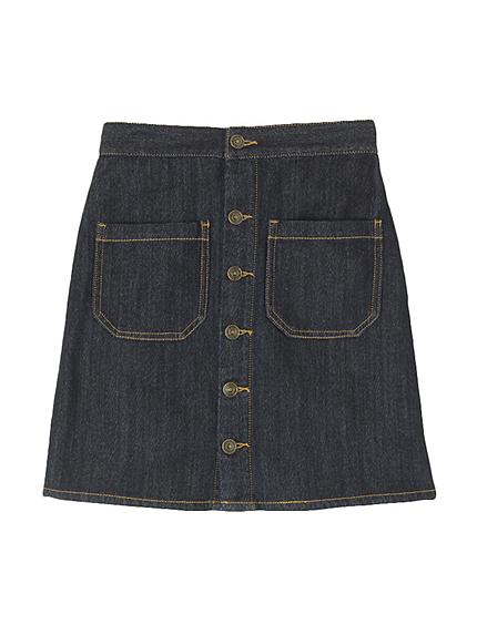 【sb】カットデニム台形スカート