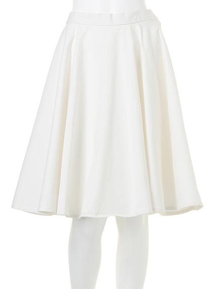 【W】カラーフレアスカート