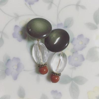 Cigogne Antique parts earrings