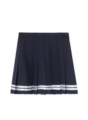 バイカラーラインプリーツスカート