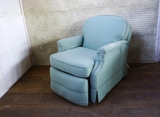 Blue cushion 1p sofa