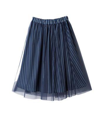 チュールフレアスカート