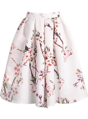 花柄スカート 花 フレアスカート フラワー柄 春 夏 ふんわり パーティー 女子会 お出かけ お上品 華やか オシャレ ママ