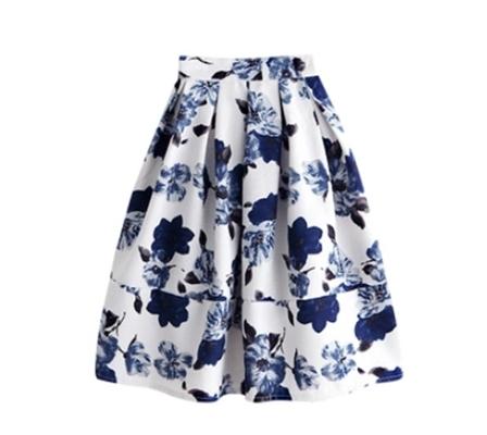 花 フレア ミディ スカート フラワー 春 夏 新作 膝丈 女子会 お出かけ 旅行 動きやすい 軽い