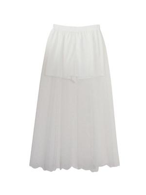 dottulle skirt in pants