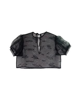 lip organdy blouse